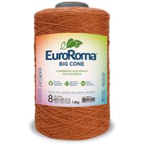 Barbante Big Cone Colorido nº8 com 1,8kg EuroRoma - Cor 710 Telha - Eurofios