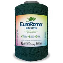 Barbante Big Cone Colorido nº8 com 1,8kg EuroRoma - Cor 804 Verde Musgo - Eurofios