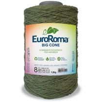 Barbante Big Cone Colorido nº8 com 1,8kg EuroRoma - Cor 805 Verde Militar - Eurofios