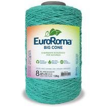 Barbante Big Cone Colorido nº8 com 1,8kg EuroRoma - Cor 810 Verde Água Escuro - Eurofios