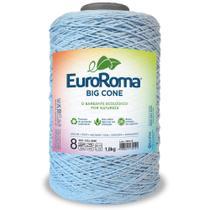 Barbante Big Cone Colorido nº8 com 1,8kg EuroRoma - Cor 900 Azul Bebê - Eurofios
