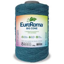Barbante Big Cone Colorido nº8 com 1,8kg EuroRoma - Cor 902 Azul Petróleo - Eurofios