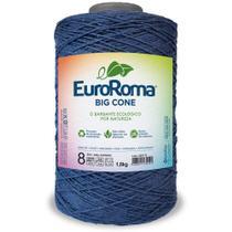 Barbante Big Cone Colorido nº8 com 1,8kg EuroRoma - Cor 904 Azul Marinho - Eurofios