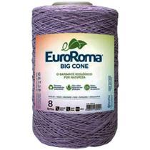 Barbante Big Cone Colorido nº8 com 2,1kg EuroRoma - Cor 601 Lilás Escuro - Eurofios