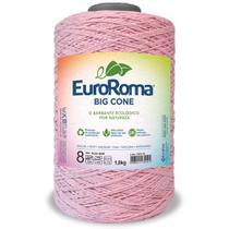 Barbante Big Cone Colorido nº8c/ 1,8kg EuroRoma - Cor 510 Rosa Bebê - Eurofios