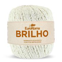 Barbante Brilho Prata 4/6 406m 400g Cru 100 Euroroma -