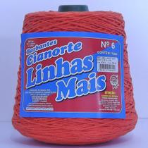 Barbante Cianorte n6 cor cenoura -