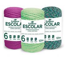 Barbante Colorido 100G 4/6 Fios Rolo 101M Sortid - Euroroma