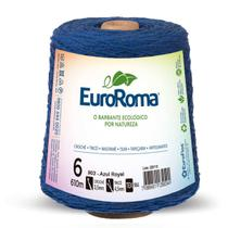 Barbante colorido 600g 4/6 fios 610m azul royal unidade - Euroroma