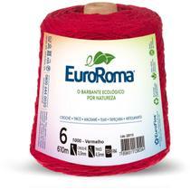 Barbante Colorido 600G 4/6 Fios 610M Vermelho - Euroroma
