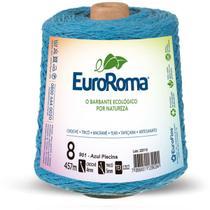 Barbante colorido 600g 4/8 fios 457m az. piscina unidade - Euroroma