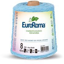 Barbante colorido 600g 4/8 fios 457m azul bebe unidade - Euroroma