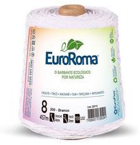 Barbante Colorido 600g 4/8 Fios 457m Branco Euroroma - Totalembalagens
