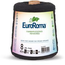 Barbante colorido 600g 4/8 fios 457m preto unidade - Euroroma