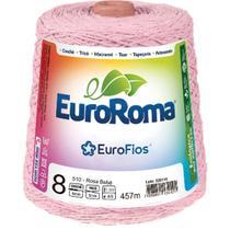 Barbante Colorido 600G 4/8 Fios 457M Rosa Bebe - Euroroma