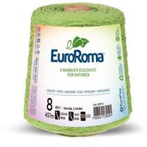 Barbante Colorido 600G 4/8 Fios 457M Verde Limao - Euroroma