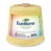Barbante Colorido nº6 c/ 600g EuroRoma - Amarelo Bebê - Eurofios