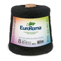 Barbante Colorido Nº8 600g Euroroma  cor Preto imediato -