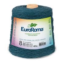 Barbante Colorido nº8 c/ 600g EuroRoma - Azul Petróleo - Eurofios