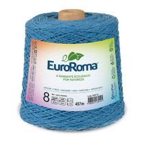Barbante Colorido nº8 c/ 600g EuroRoma - Azul Piscina - Eurofios
