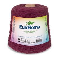 Barbante Colorido nº8 c/ 600g EuroRoma - Bordô - Eurofios