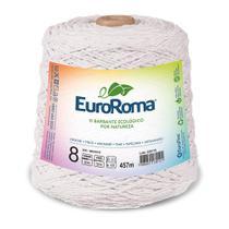 Barbante Colorido nº8 c/ 600g EuroRoma - Branco - Eurofios