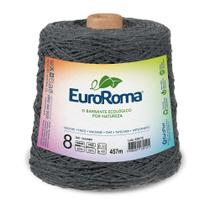 Barbante Colorido nº8 c/ 600g EuroRoma - Chumbo - Eurofios