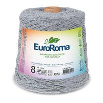Barbante Colorido nº8 c/ 600g EuroRoma - Cinza - Eurofios