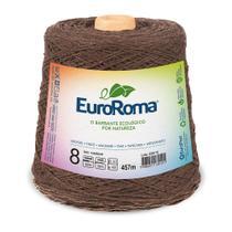Barbante Colorido nº8 c/ 600g EuroRoma - Marrom - Eurofios