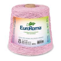 Barbante Colorido nº8 c/ 600g EuroRoma - Rosa Bebê - Eurofios