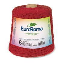 Barbante Colorido nº8 c/ 600g EuroRoma - Vermelho - Eurofios