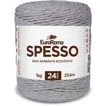 Barbante Colorido Spesso 4/24 1KG Cinza - Euroroma