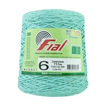 Barbante Crochê Fial Colorido 700g - N. 6 - 43 - Verde Claro - Barbantes Fial