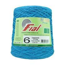 Barbante Crochê Fial Colorido 700g - N. 6 -  56 - Azul Turquesa - Barbantes Fial