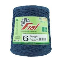 Barbante Crochê Fial Colorido 700g - N. 6 - 61 - Azul Marinho - Barbantes Fial