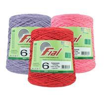 Barbante Crochê Fial Colorido 700g - N. 6 - Barbantes Fial