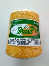 BARBANTE ECO BRASIL COLORIDO N 6 700g 580m - COR 13 AMARELO FORTE - Soberano