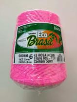 BARBANTE ECO BRASIL COLORIDO N 6 700g 580m - COR 43 ROSA NEON - Soberano