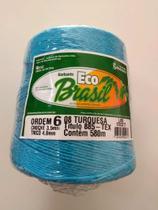BARBANTE ECO BRASIL COLORIDO N 6 700g 580m - COR 8 TURQUESA - Soberano