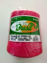 BARBANTE ECO BRASIL COLORIDO N 6 700g 580m - COR 9 VERMELHO - Soberano