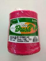 BARBANTE ECO BRASIL COLORIDO N 8 700g 470m - COR 09 VERMELHO - Soberano