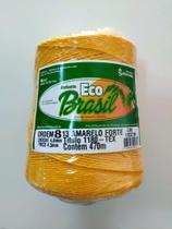 BARBANTE ECO BRASIL COLORIDO N 8 700g 470m - COR 13 AMARELO FORTE - Soberano