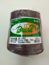 BARBANTE ECO BRASIL COLORIDO N 8 700g 470m - COR 16 CAFÉ - Soberano