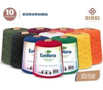 Barbante euroroma 600g kit 10 unidades cores sortidas -