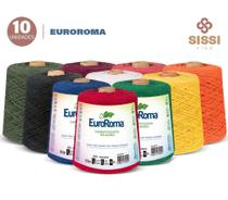Barbante euroroma 600g número 6 kit 10 unidades cores sortidas -