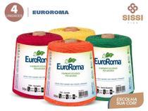 Barbante euroroma 600g número 6 kit 4 unidades cores sortidas -