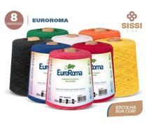 Barbante euroroma 600g número 6 kit 8 unidades cores sortidas -