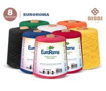 Barbante euroroma 600g número 8 kit 8 unidades cores sortidas -