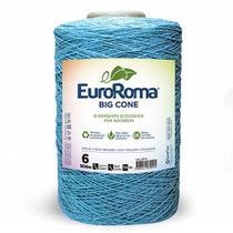 Barbante EuroRoma Big Cone Azul Bebê número 06 - 1,8Kg -