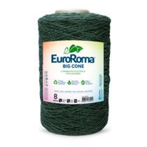 Barbante EuroRoma Big Cone Cor 804 - Verde Musgo número 08 - 1,8 Kg - Eurofios